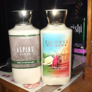 Bath and body works lotion set